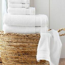 White Noah Six-Piece Towel Set | Zulily