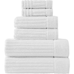 White Shimmer Six-Piece Towel Set | Zulily