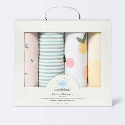 Flannel Baby Blankets Citrus - Cloud Island™ 4pk   Target