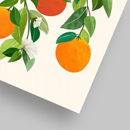 Americanflat Oranges And Blossoms Ii by Modern Tropical Poster   Target