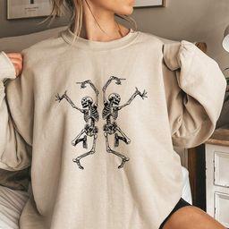 Fall Dancing Skeleton Shirt funny halloween costume shirt | Etsy | Etsy (US)