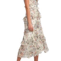 Nelly Floral Print Midi Dress | Nordstrom | Nordstrom