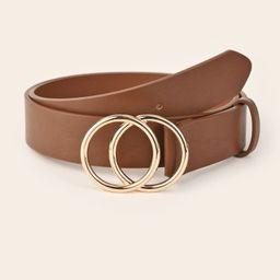 SHEIN BASICS Double Ring Buckle Belt   SHEIN