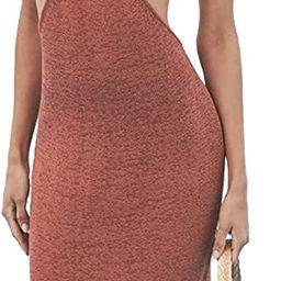 Womens Sexy V-Neck Maxi Crochet Knit Dress, Cutouts Sleeveless Long Dresses Summer Outfits   Amazon (US)