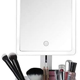 Fancii LED Lighted Large Vanity Makeup Mirror with 10X Magnifying Mirror - Dimmable Natural Light... | Amazon (US)