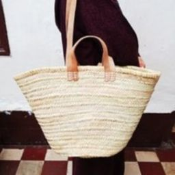 Moroccan Basket. Natural Xl Straw Bag With Double Natural Leather Handle . Beach Bag, Market Basket,   Etsy (US)