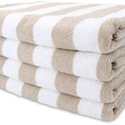 Amazon.com: Arkwright Oversized Beach Towels (30x70, 4-Pack), Ringspun Cotton Double Yarn Strengt...   Amazon (US)