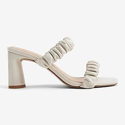 Ruched Double Band Heeled Sandals | Express