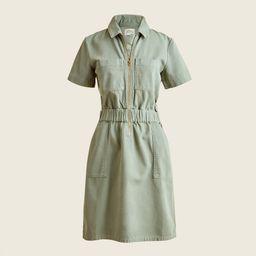 Zip-front chino dress | J.Crew US