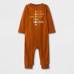 Baby Boys' Fall Graphic Romper - Cat & Jack™ Orange | Target