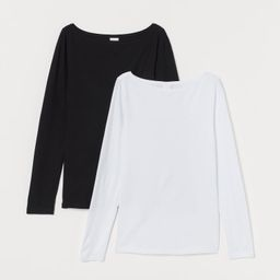 2-pack Long-sleeved Tops   H&M (US)