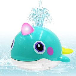 VATOS Baby Bath Toy Whale Bathtime Squirt Toys Bathing Toy Sprinkler Swimming Tub Floating Water ... | Amazon (US)