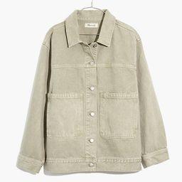 Garment-Dyed Denim Patch Pocket Trucker Jacket   Madewell