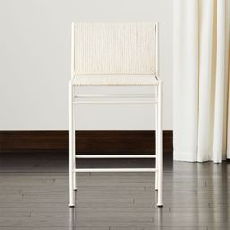Bounce Ivory Woven Counter Stool + Reviews | CB2 | CB2