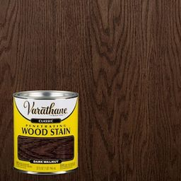 Varathane 1 qt. Dark Walnut Classic Wood Interior Stain-339720 - The Home Depot | The Home Depot
