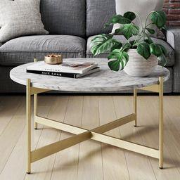 Belynda Cross Legs Coffee Table   Wayfair North America
