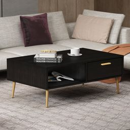 Coffee Table With 1 Drawer And Storage Shelf | Wayfair North America