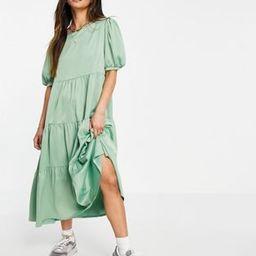 Heartbreak tiered midi dress in mint   ASOS (Global)