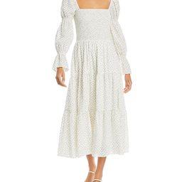 Smocked Floral Print Midi Dress | Bloomingdale's (US)