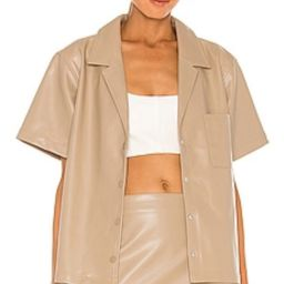 L'Academie Kelly Blouse in Beige from Revolve.com | Revolve Clothing (Global)