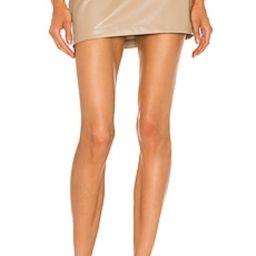 L'Academie Tasha Micro Skirt in Beige from Revolve.com | Revolve Clothing (Global)