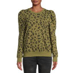 The Get Women's Puff Sleeve Sweatshirt | Walmart (US)