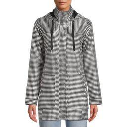 Me Jane Women's Gingham Rain Jacket with Hood | Walmart (US)
