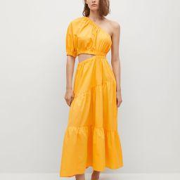 Vent cotton dress | MANGO (US)