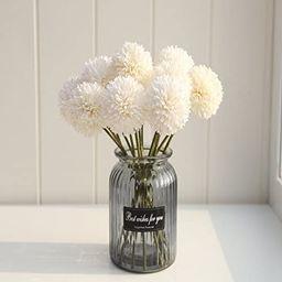Artificial Chrysanthemum Ball Flowers Hydrangea Arrangement Bouquet 10pcs Present for Friends Dec...   Amazon (US)