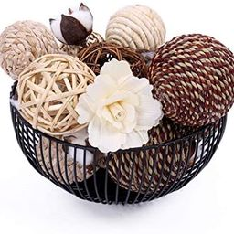 idyllic Assorted Decorative Spherical Natural Woven Twig Rattan, Suitable for Tabletop Decoration   Amazon (US)