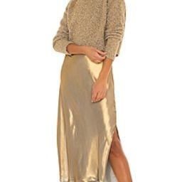ALLSAINTS Rosetta Tinsel Dress in Gold & Khaki Gold from Revolve.com | Revolve Clothing (Global)
