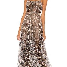 Midnight Noir Gown in Gold & Black | Revolve Clothing (Global)