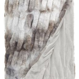 Ruched Faux Fur Throw Blanket | Nordstrom | Nordstrom