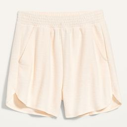 Extra High-Waisted Textured Dolphin-Hem Lounge Shorts for Women -- 3.5-inch inseam | Old Navy (US)