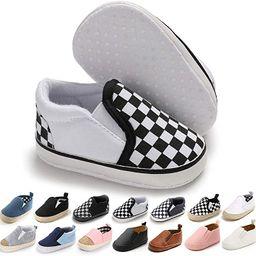 Meckior Infant Baby Girls Boys Canvas Shoes Soft Sole Toddler Slip On Newborn Crib Moccasins Casu...   Amazon (US)