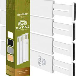 Adjustable Bamboo Drawer Dividers Organizers - Expandable Drawer Organization Separators For Kitc... | Amazon (US)