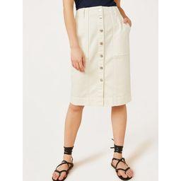 Free Assembly Women's Button Front Skirt   Walmart (US)