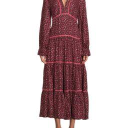 Time and Tru Women's Long Sleeve Peasant Dress   Walmart (US)