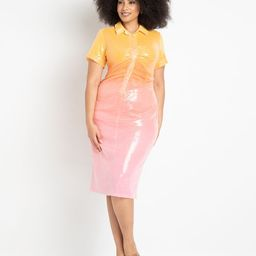 Ombre Sequin Midi Dress | Eloquii