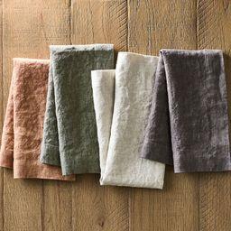 Mason Oversized Linen Napkins, Set of 4 - Straw | Pottery Barn (US)