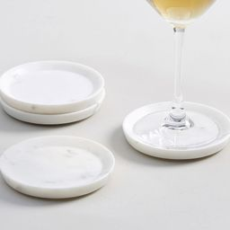 White Marble Coasters, Set of 4 | Pottery Barn (US)