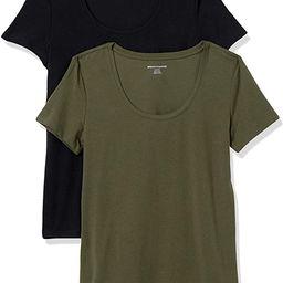 Amazon Essentials Women's 2-Pack Classic-Fit Short-Sleeve Scoopneck T-Shirt   Amazon (US)