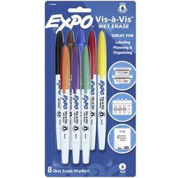 Expo 8pk Vis-à-Vis Wet Erase Marker Fine Point Assorted   Target