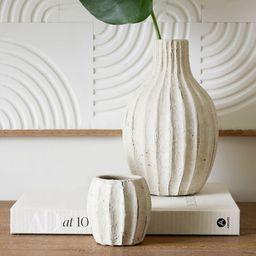 Artisan Hand Painted Terra Cotta Bud Vases - Set of 2 | Pottery Barn (US)