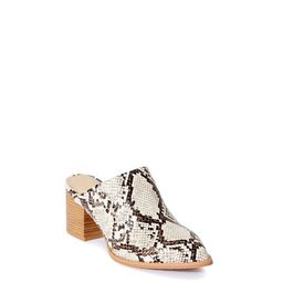 Melrose Ave Women's Vegan Leather Pointed Toe Block Heel Mule   Walmart (US)