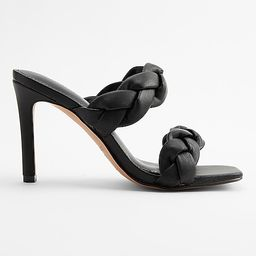Braided Double Band Heeled Sandals   Express