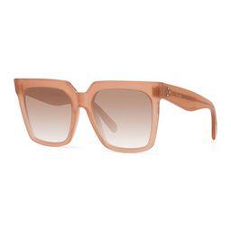 Square Acetate Sunglasses w/ Side Studs | Neiman Marcus