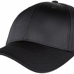 moonsix Baseball Cap,Plain Polyester 6 Panel Satin Sport Dancing Summer Sun Visor Hat | Amazon (US)