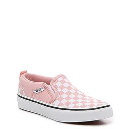 Vans Asher Checkboard Slip-On Sneaker - Kids' | DSW