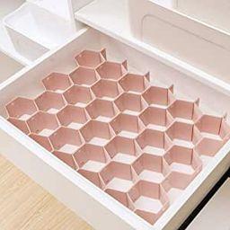 Poeland Drawer Divider Organizer 8pcs DIY Plastic Grid Honeycomb Drawer Divider | Amazon (US)